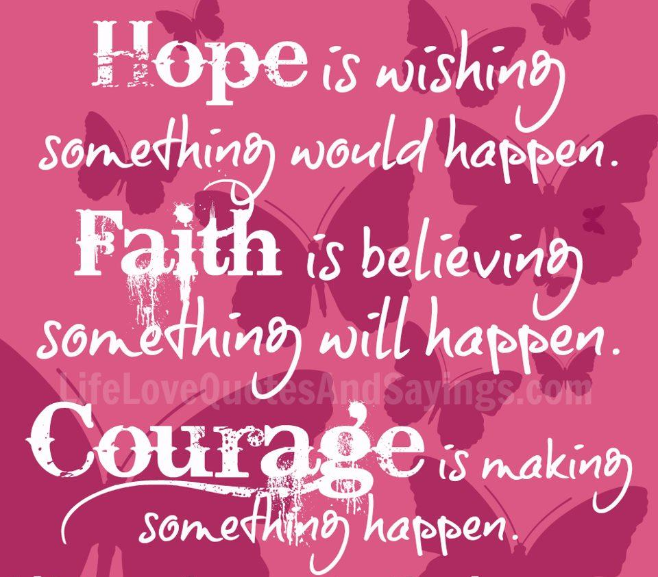 Hope Quotes Hope Is Wishing Something Would Happenfaith Is Believing