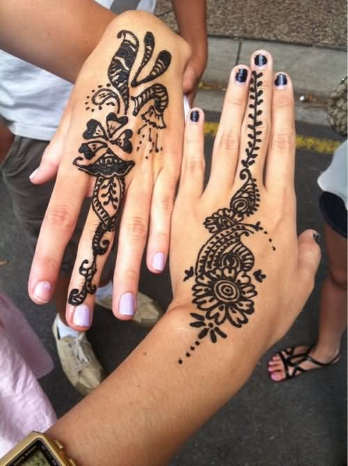 Cute Henna Tattoo Designs: 34+ Nice Henna Hand Tattoos
