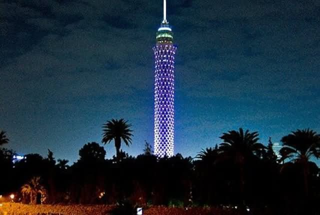 Incredible Night View Of Cairo Tower, Egypt