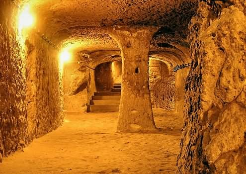 Interior View Of The Egyptian Pyramid, Egypt