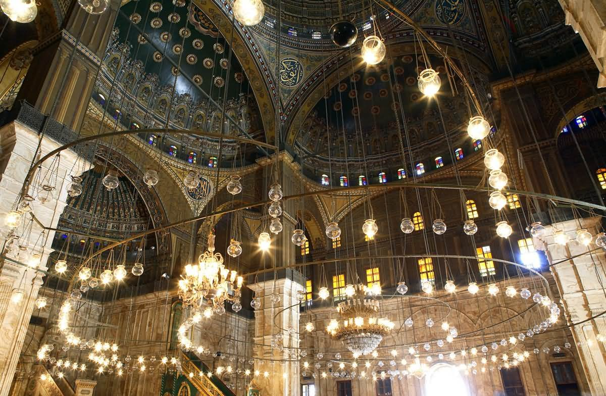 Lighting Inside The Muhammad Ali, Mosque