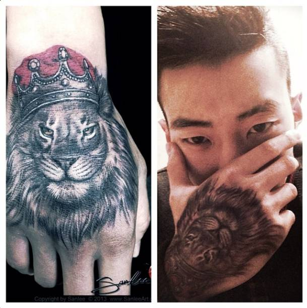 13 King Tattoos On Hands