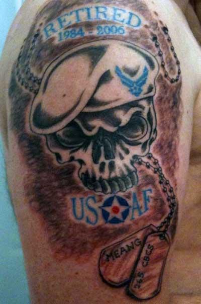 26 Air Force Military Tattoos