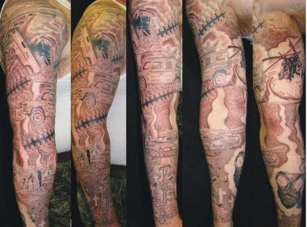 Army Tank Tattoo Designs