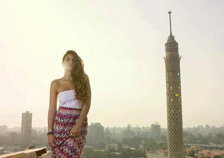 Modeling In Front Of Cairo Tower