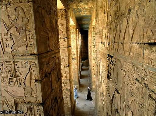 Narrow Way Inside View Of Egyptian Pyramid