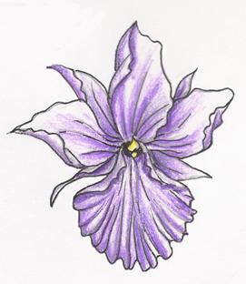 6510ef1b744f0 Nice Purple Orchid Flower Tattoo Design by Subearanhuman