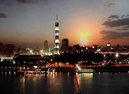 Night View Of Cairo Tower And City