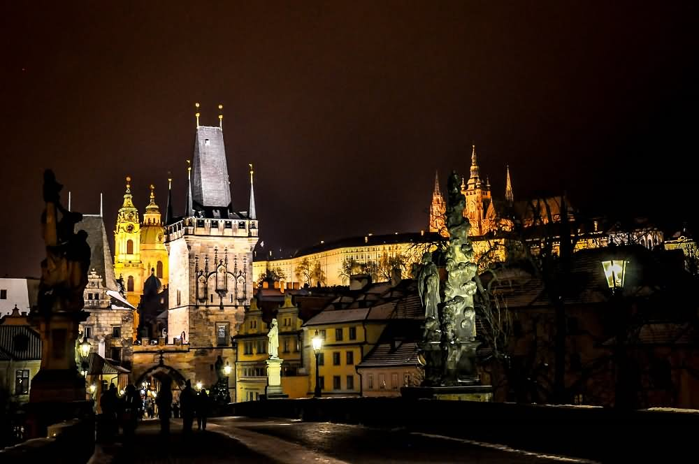 35 Most Incredible Night View Of The Charles Bridge Prague