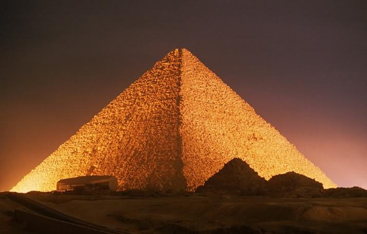 Night View Of Egyptian Pyramids