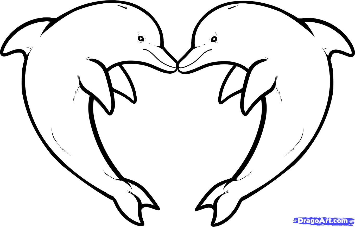Pics photos dolphin tattoo design tattoos art and designs - Outline Dolphin Tattoos Sample
