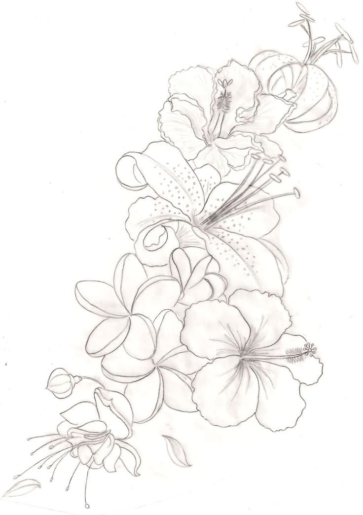 Orchids Tattoo Outline 30 Awesome Orchid Tattoos Designs