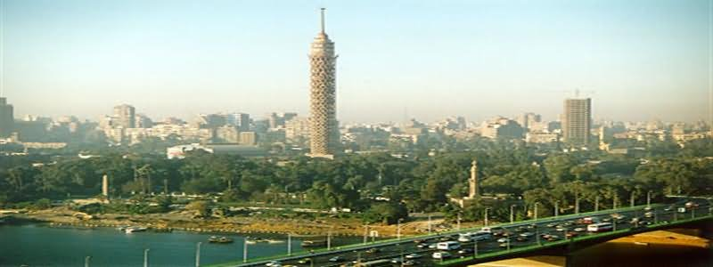 Panorama View Of The Cairo Tower, Egypt