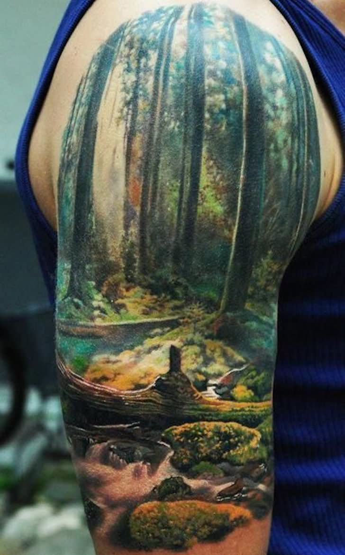 23+ Amazing Ocean Scenery Tattoo - photo#39