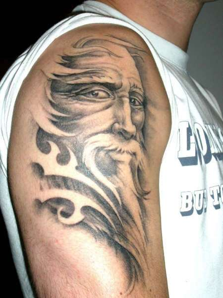 12 wizard tattoos on shoulder for Wizard tattoo designs