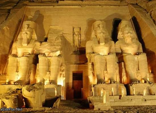Sculptures Inside The Egyptian Pyramid