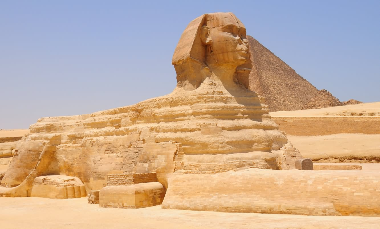 Side View Image Of The Great Sphinx of Giza