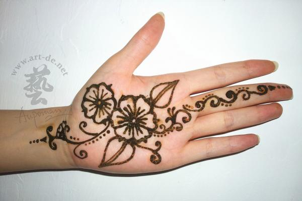Easy simple henna mehndi designs for hands palm Tutorial ... |Simple Henna Palm Designs