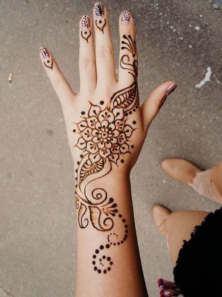 Mehndi Hand Outline : Hand henna tattoo pixshark images galleries