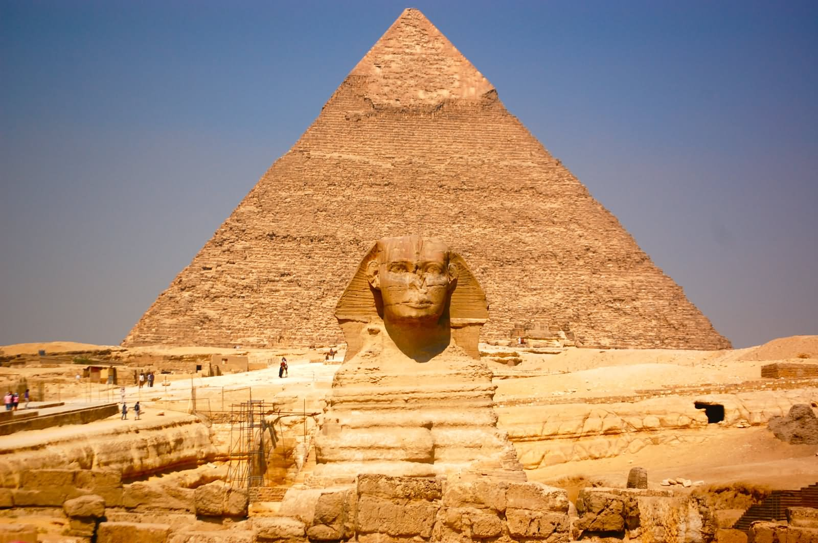 Sphinx And Egyptian Pyramid Picture