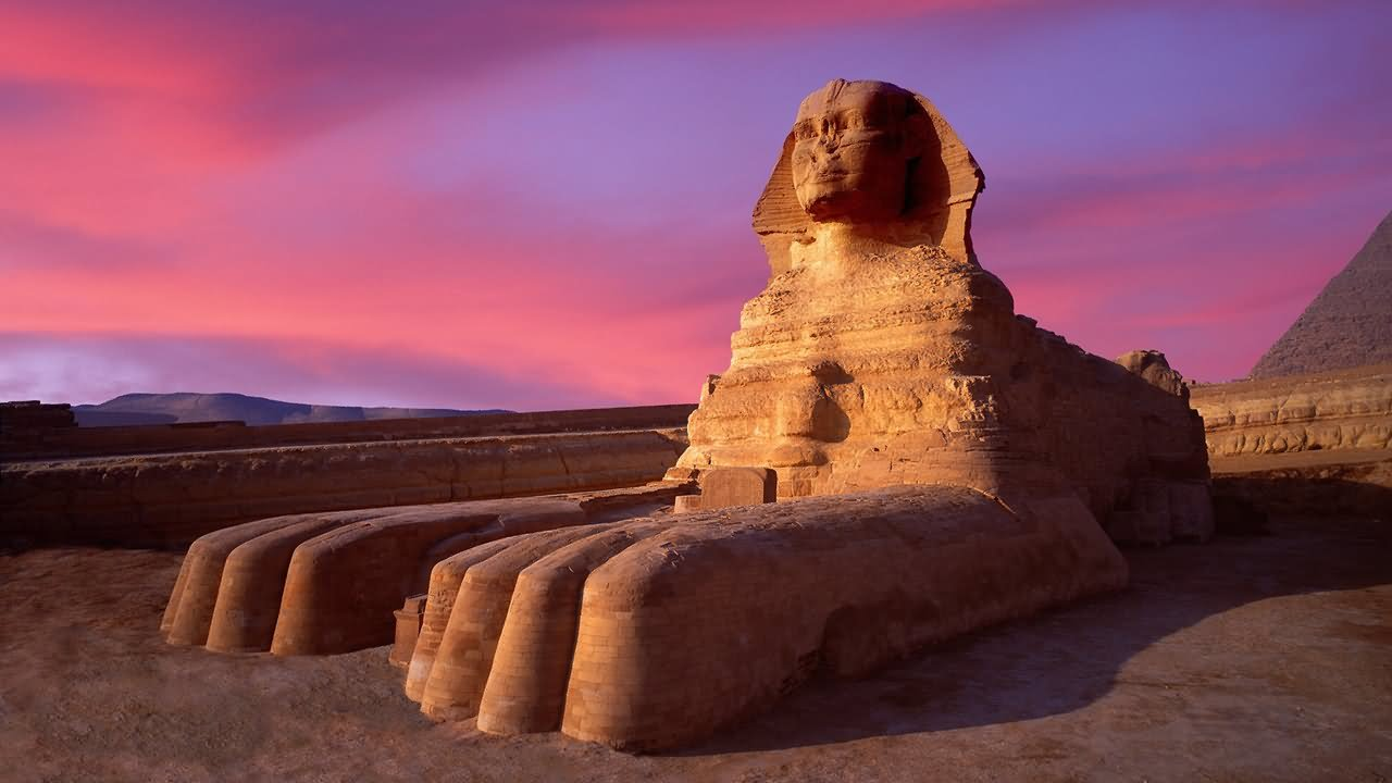 Sunset View Of The Great Sphinx of Giza, Egypt