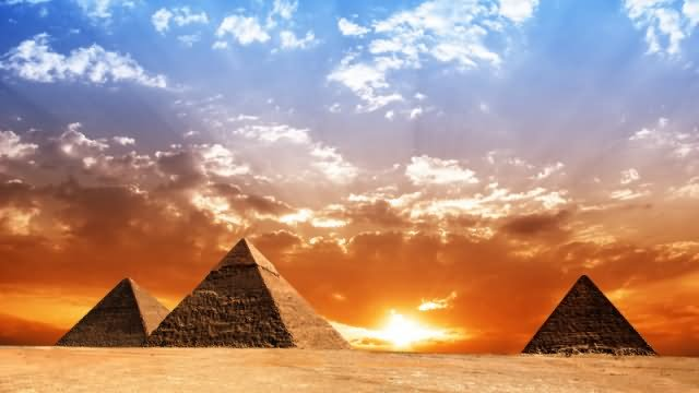 The Egyptian Pyramids Sunset View