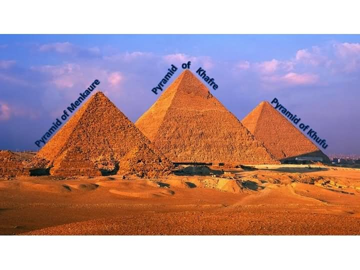 The Great Egyptian Pyramids Names Picture