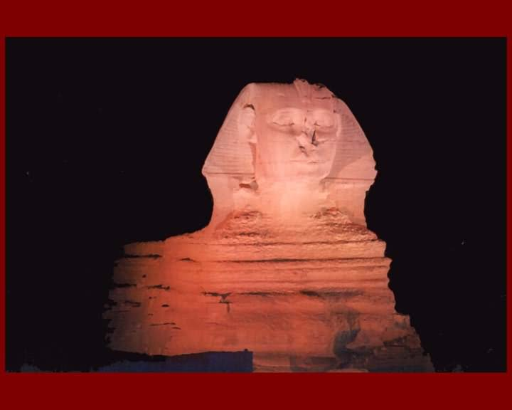 The Great Sphinx Of Giza Lit Up At Night Picture