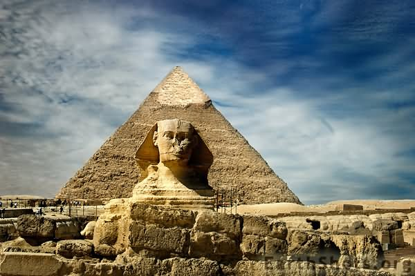 The Great Sphinx of Giza And Pyramid Picture