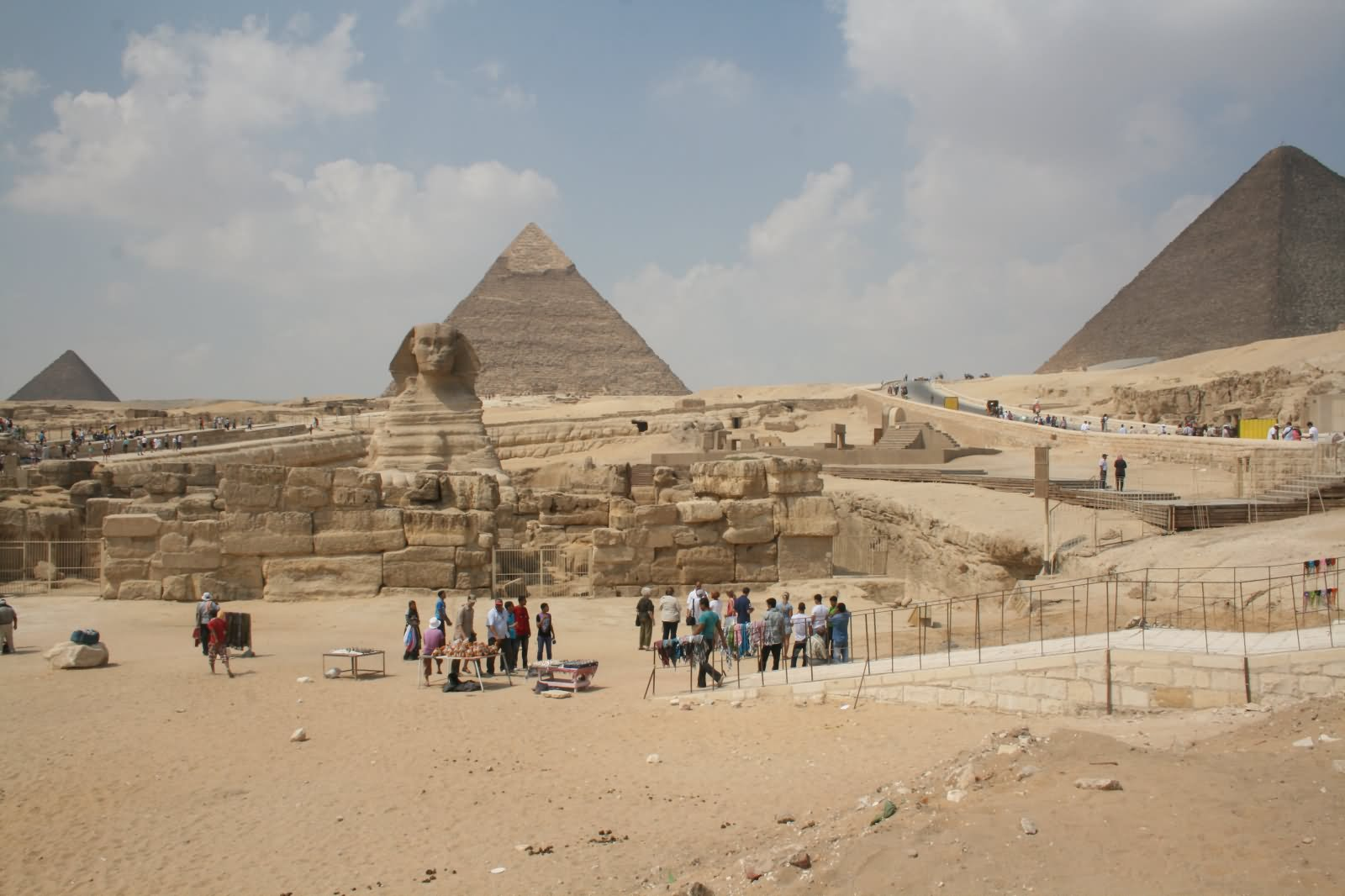 The Great Sphinx of Giza And Pyramids In Background