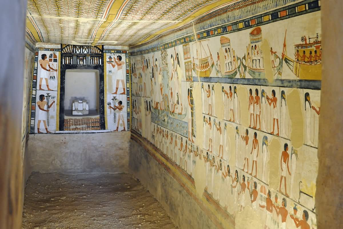 The Tomb Of Menna Inside The Egyptian Pyramid