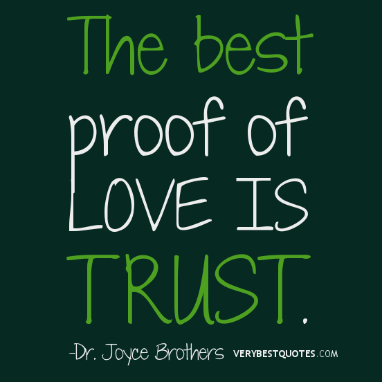 Love And Trust Quotes Enchanting The Best Proof Of Love Is Trust.