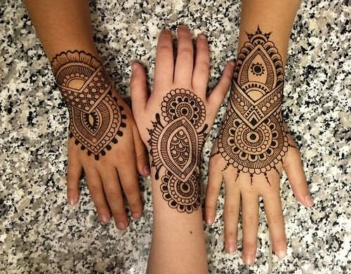 12 beautiful henna tattoo designs. Black Bedroom Furniture Sets. Home Design Ideas