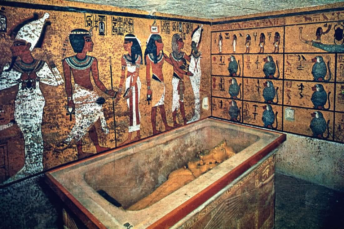Tomb Inside The Egyptian Pyramid