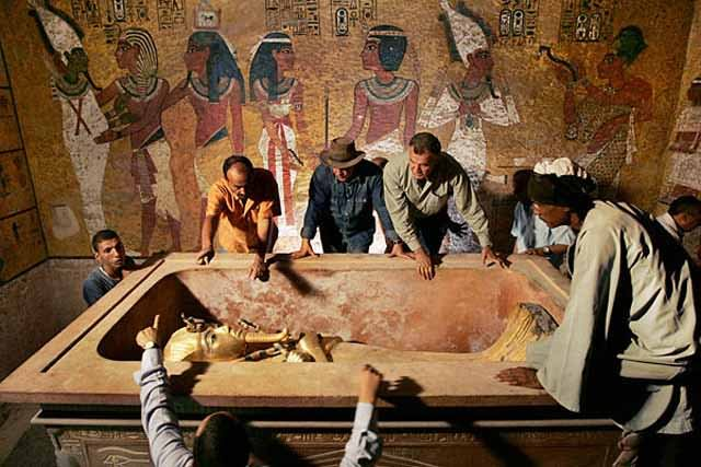 Tomb Of Egyptian King Inside The Egyptian Pyramid