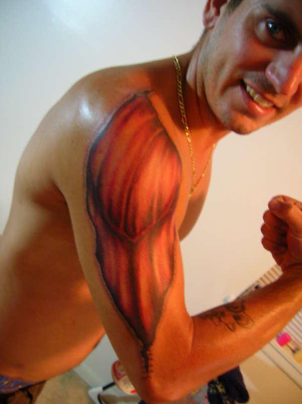 8+ Torn Ripped Skin Tattoos On Half Sleeve