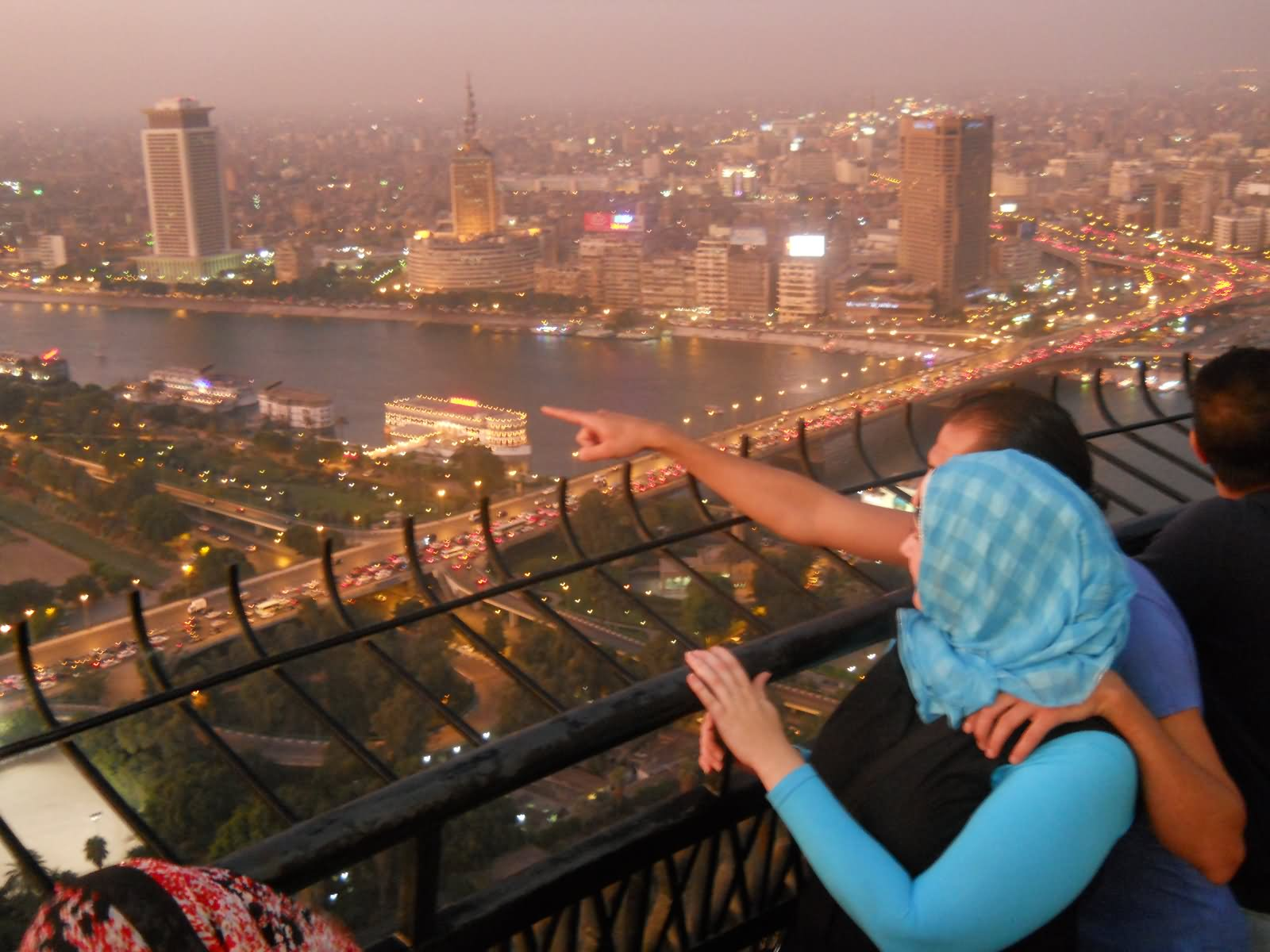 Tourists Enjoying Adorable Sightings From The Cairo Tower