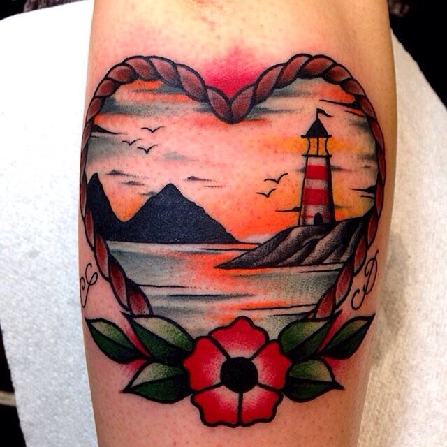 36 beautiful scenery tattoos - Tattoo leuchtturm ...