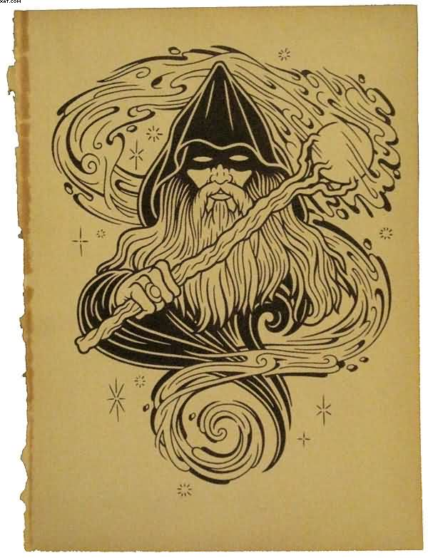 17 latest wizard tattoos designs for Wizard tattoo designs