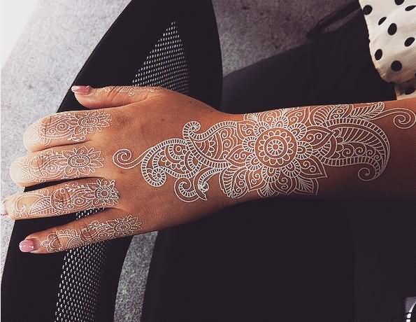 49 beautiful henna tattoos for girls for White henna tattoo ink