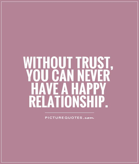 Confidence Related Quotes: Without Trust, You Can Never Have A Happy Relationship