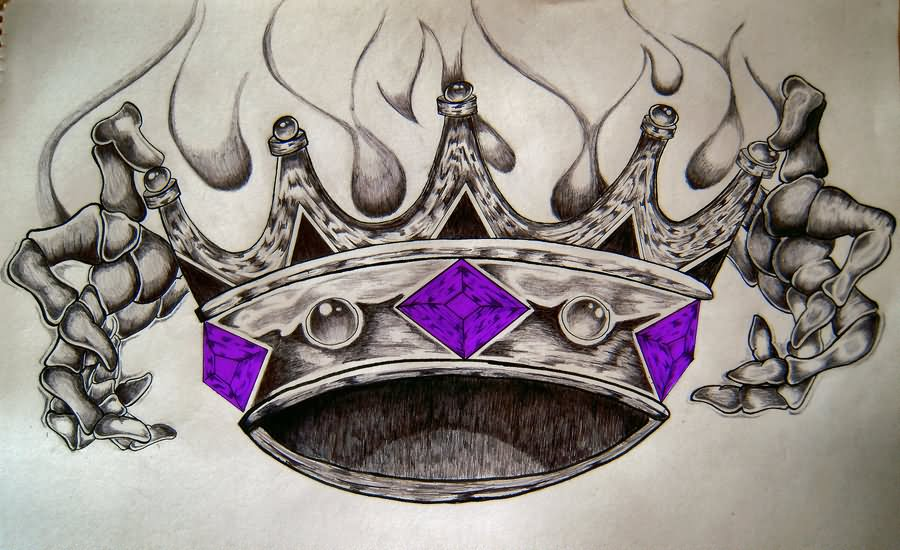 Image Gallery king crown drawings tattoo