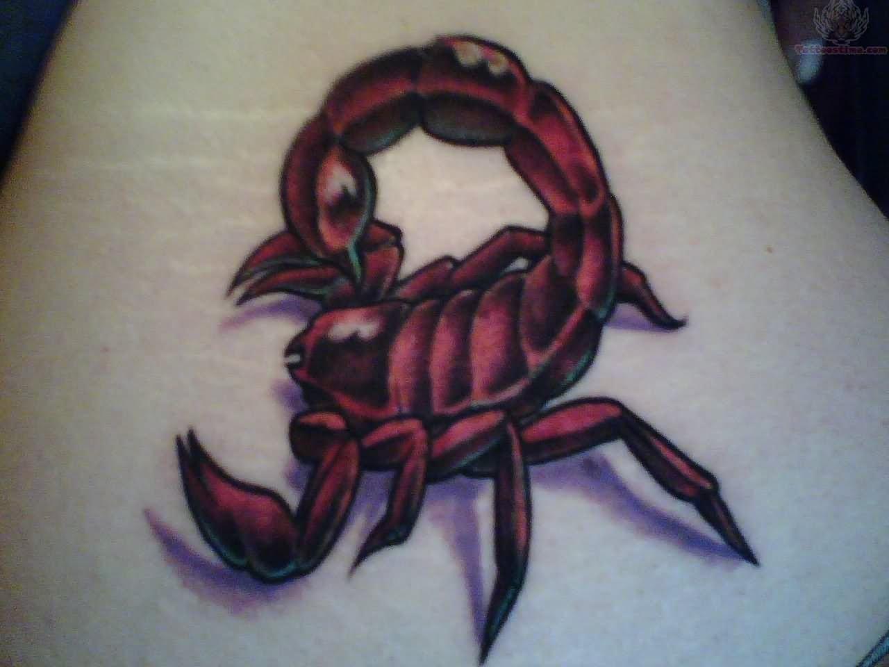 3d scorpion tattoo designs - 3d Traditional Scorpion Tattoo Design