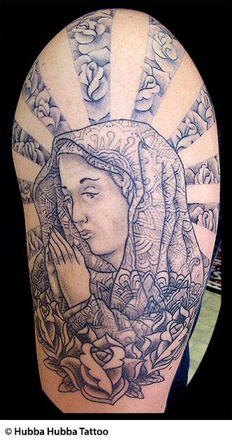 8 saint mary tattoos designs for Holy mary tattoo