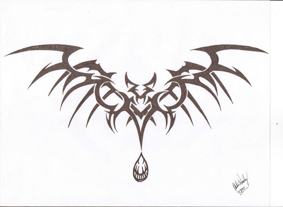 16 vampire bat tattoo design ideas. Black Bedroom Furniture Sets. Home Design Ideas