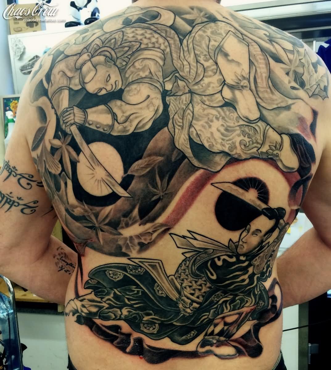 10 samurai tattoos on full back. Black Bedroom Furniture Sets. Home Design Ideas