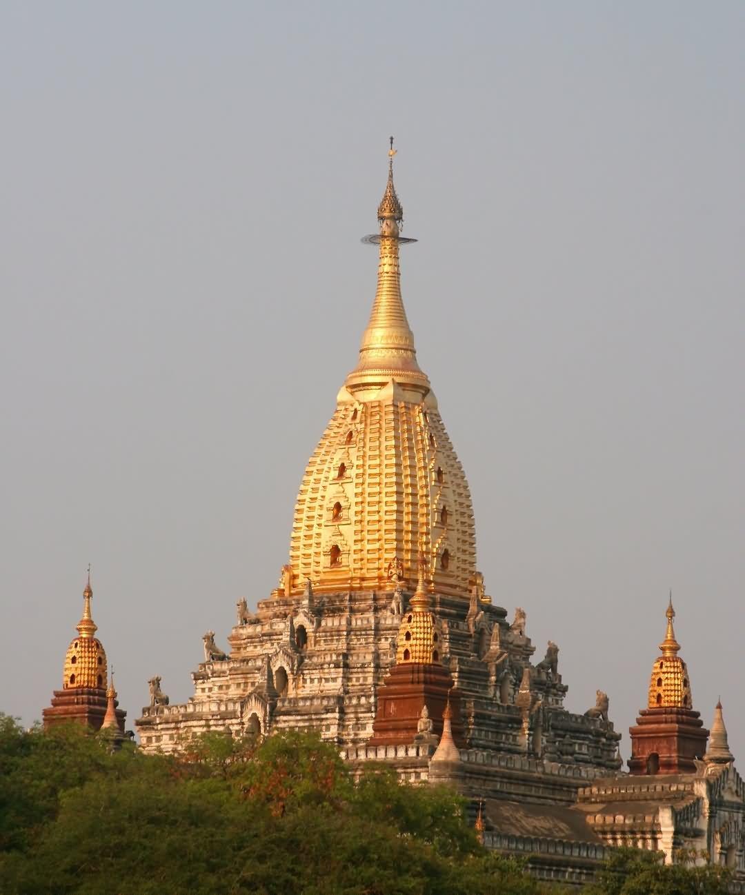 Beautiful Picture Of Ancient Ananda Temple In Bagan, Myanmar