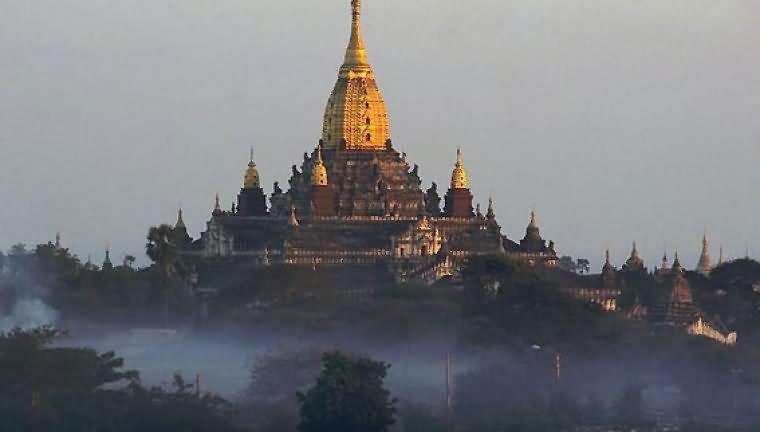 Beautiful View Of The Ananda Temple In Bagan, Myanmar