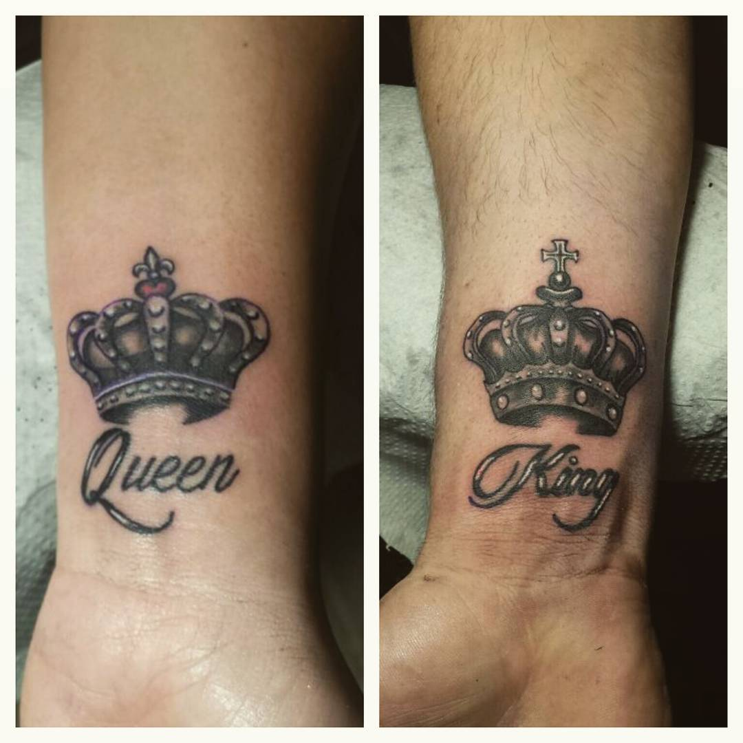 Queen Tattoo For Girls Black And Grey ...