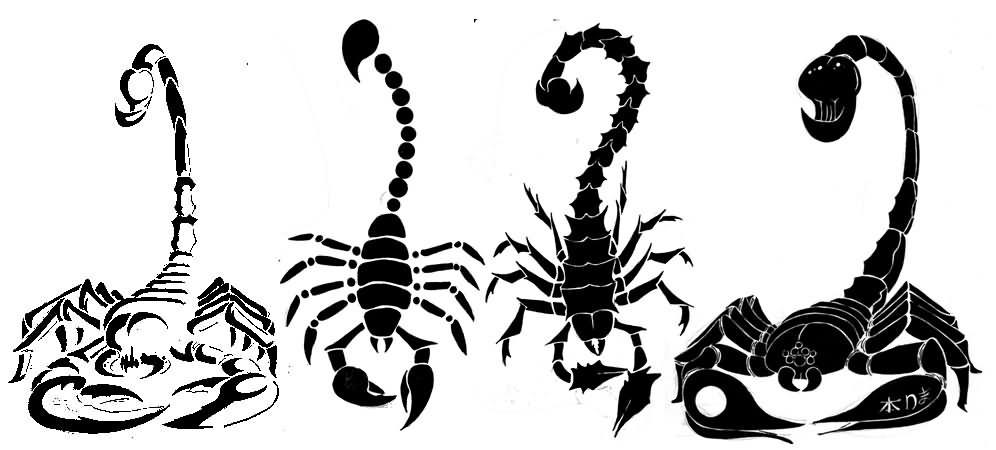 Simple black scorpion tattoo on ankle for Simple scorpion tattoo